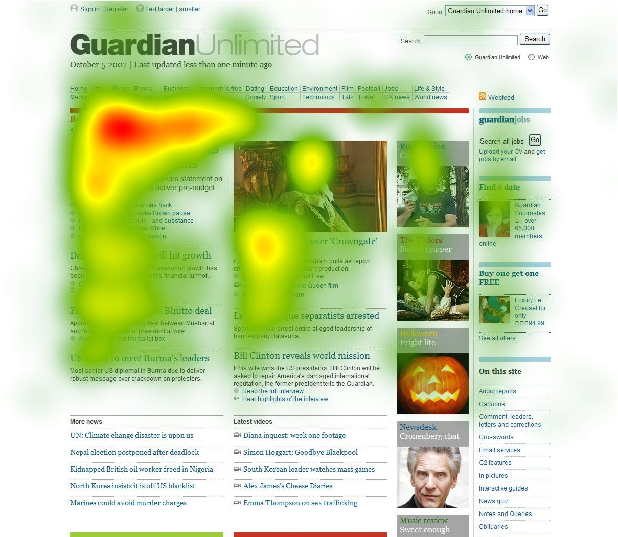 Kiểm tra heatmap trên trang web