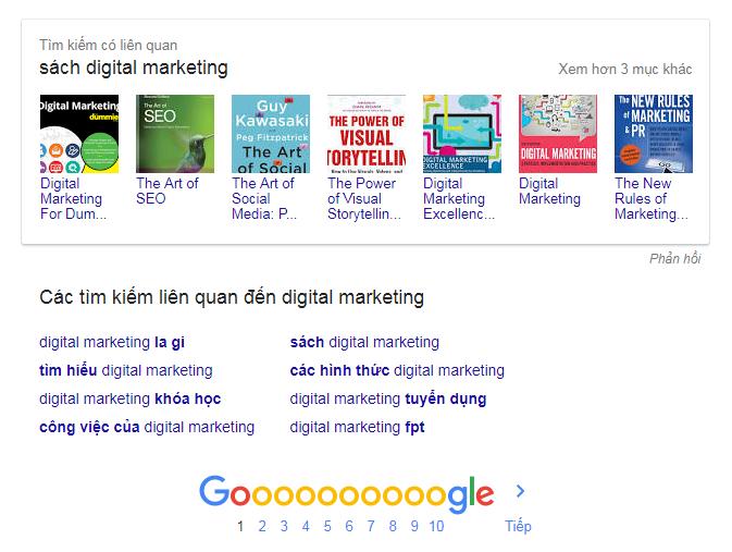 Tìm kiếm có liên quan (Related searches)