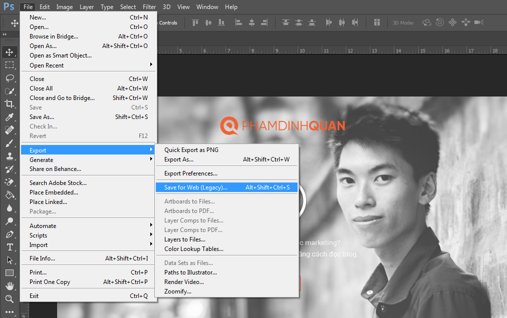 Tối ưu hóa hình ảnh thông qua Adobe Photoshop