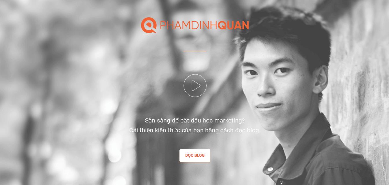 Giao diện máy tính của phamdinhquan.net