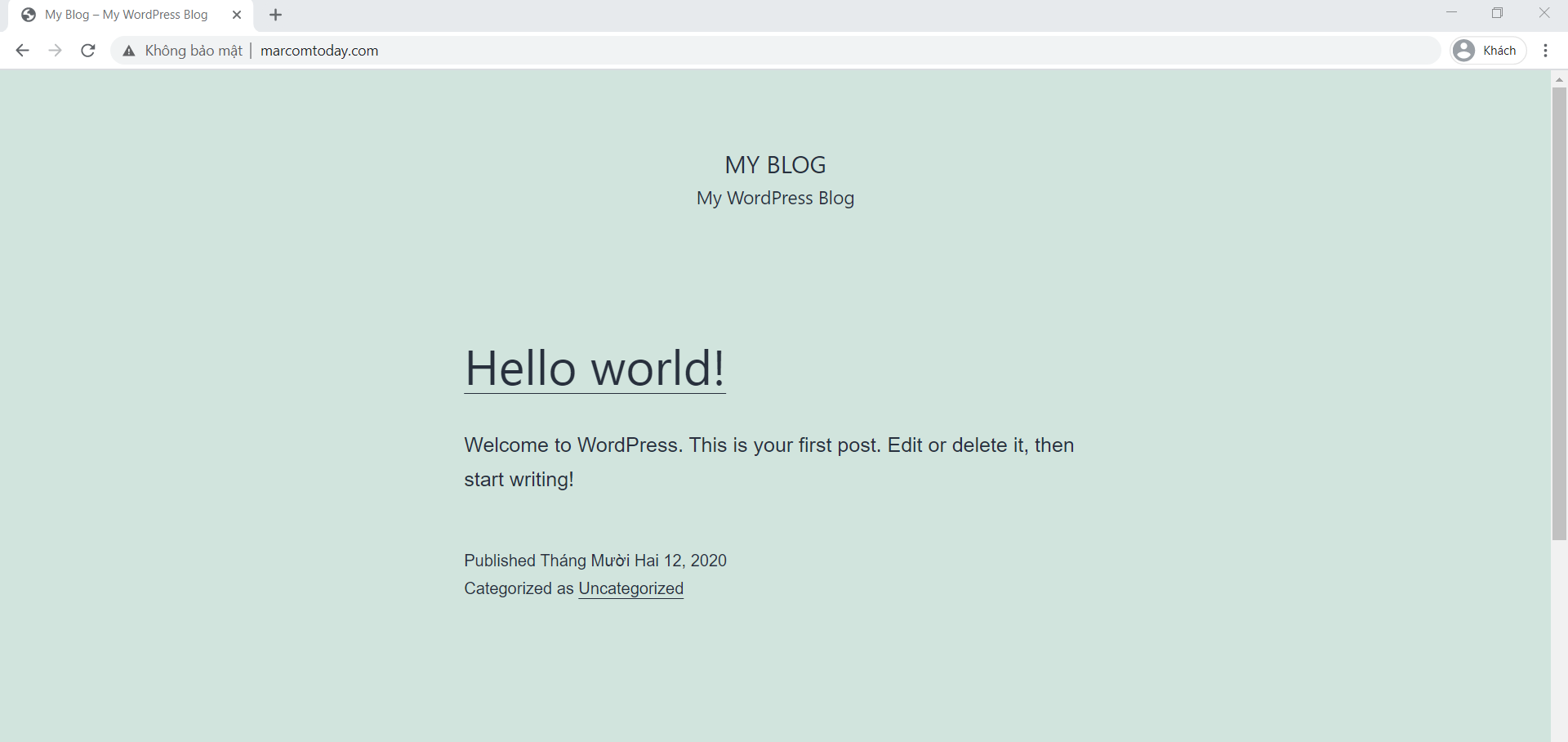 Chuyển website từ AZDIGI sang Vultr thành công