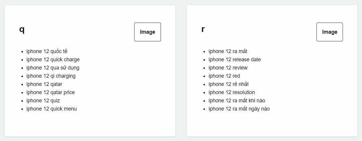 Xem các cụm từ dưới dạng dữ liệu trong  công cụ AnswerThePublic